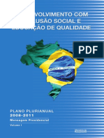 Mensagem Presidencial Planejamento Plurianual PPA 2008 Brasil