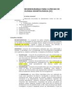 II - NORMAS DE BIOSSEGURANÇA PARA CLÍNICAS DE RADIOLÓGIA ODONTOLÓGICA