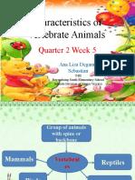 CHARACTERISTICS OF VERTEBRATE ANIMALS.pptx