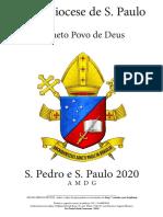 Partituras Festa de São Pedro e São Paulo
