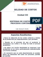 UNIDAD III Sistemas de Costos por Procesos Continuos