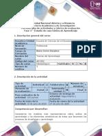 Guía de actividades y rúbrica de evaluación - Fase 4 - Estudio de caso Estilos de aprendizaje y enseñanza