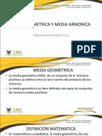 MEDIA GEOMETRICA Y MEDIA ARMONICA