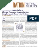 U.S. Immigration Reform Should Focus on Improving the Employment-Based Visa System, Cato Immigration Reform Bulletin No. 10
