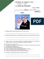 2010-11 10º 3ª Ficha de av VA valores, subj, relativismo