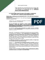 Texto sustitutorio que aprueba eliminar la inmunidad parlamentaria