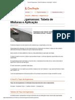 Traço de Argamassas_ Tabela de Misturas e Aplicação - FazFácil
