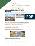 Traços do Concreto_ Misturas e Cuidados Gerais para um Bom Resultado