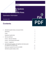 UK FSA Guidance Consultation - Individual Liquidity Systems Assessment (ILSA) Submission Information Document
