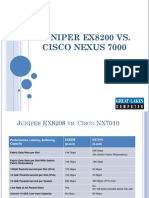Juniper EX8200 vs Cisco Nexus 7000