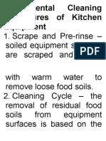 Fundamental Cleaning Procedures of Kitchen Equipment