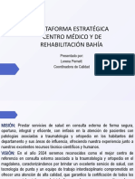SOCIALIZACIÓN PLATAFORMA ESTRATÉGICA CENTRO MÉDICO Y DE REHABILITACIÓN BAHÍA