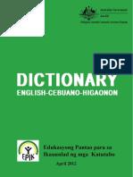 Dictionary (English Cebuano Higaonon)