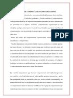 RESUMEN DE COMPORTAMIENTO ORGANIZACIONAL