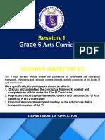 Session 1 - Arts Curriculum
