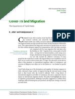 Covid-19 and Migration-The Experience of Tamil Nadu_Jafar & Kalaiyarasan 2020