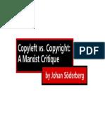 Copyright vs Copyleft- A Marxist Critique