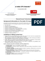 The India CFO Awards 2010 - Second Level Form