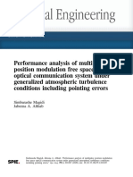 OE-Performance analysis of multipulse position modulation free space optical communication system under generalized atmospheric turbulence conditions including pointing errors