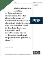 BS EN 01276-2009 (2010) EFFICACY DISINFECTANT