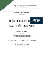 Edmond Husserl, Méditations cartésiennes