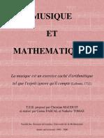Musique et mathématiques