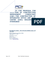 RFP - Selection of Construction Management Consultant for construction of IODC Hyderabad