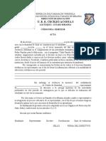 Modelo de boletas para los INASISTENTES 2020