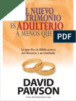 El nuevo matrimonio es adulterio a menos que - David Pawson