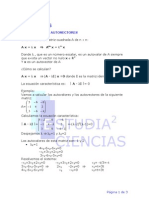 Autovectores Autovalores y Matrices Diagonalizables