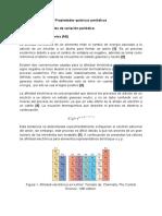 Propiedades químicas periódicas