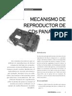 Mecanismo reproductor de CD panasonic
