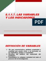 6.1.1.7. Las variables y los Indicadores.pptx