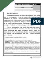153-2017-051 - AMPLIADA BLOCO DE RECUPERAÇÃO FINAL DE LÍNGUA PORTUGUESA