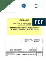 G09-PUD-110-CO-ACS-3952-TS_00_Especificación técnica de suministro y montaje de estructuras
