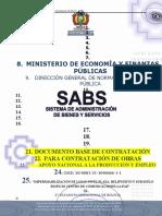 MODELO DE DOCUMENTO BASE DE CONTRATACIÓN