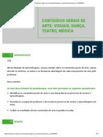 Unidade 3 - CONTEÚDOS GERAIS DE ARTE- VISUAIS- DANÇA-TEATRO- MÚSICA