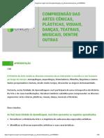 Unidade 4 - COMPREENSÃO DAS ARTES CÊNICAS, PLÁSTICAS, VISUAIS, DANÇAS, TEATRAIS, MUSICAIS, DENTRE OUTRAS