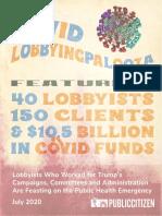 Covid Lobbying Palooza