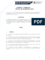 CONVOCATORIA CAMBIOS Y PERMUTAS 2018