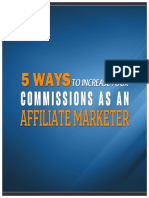 5 Ways To Increase Your Commission As An Affiliate Marketer - Report