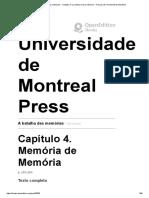 La bataille des mémoires - Chapitre 4. La mémoire de la mémoire - Presses de l'Université de Montréal
