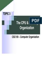 1 - CPU Memory Organization