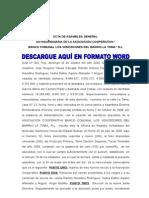 Acta de Cooperativa Renuncia de Junta Directiva
