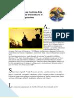 Configuration du territoire de la Roumanie entre arrachements et récupérations
