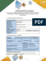 Guía de actividades y rubrica de evaluación - Fase 2 - Determinar el problema, recopilar información y realizar análisis critico y conclusio