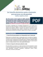 Bases Sin Barreras, concurso de cuento para población con discapacidad visual, auditiva y cognitiva