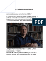 Monteleone, Jorge - Entrevista a Jorge Monteleone, Infobae, diciembre 2018