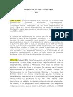 El Sistema General de Participaciones SGP- MODIFICADA