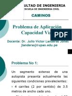 Problema de Aplicación - Capacidad Vial